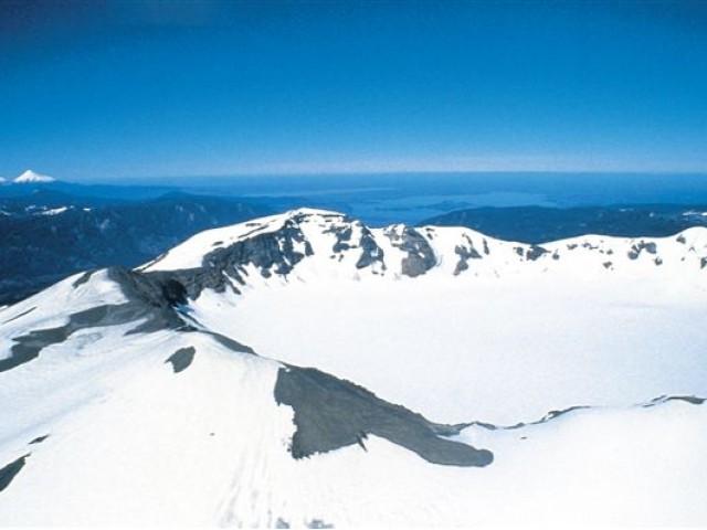 Esqui em Antillanca , ao sul do Chile