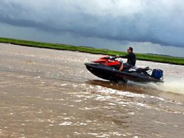 Expedição a bordo de motos aquáticas percorreu 700 km no Pará